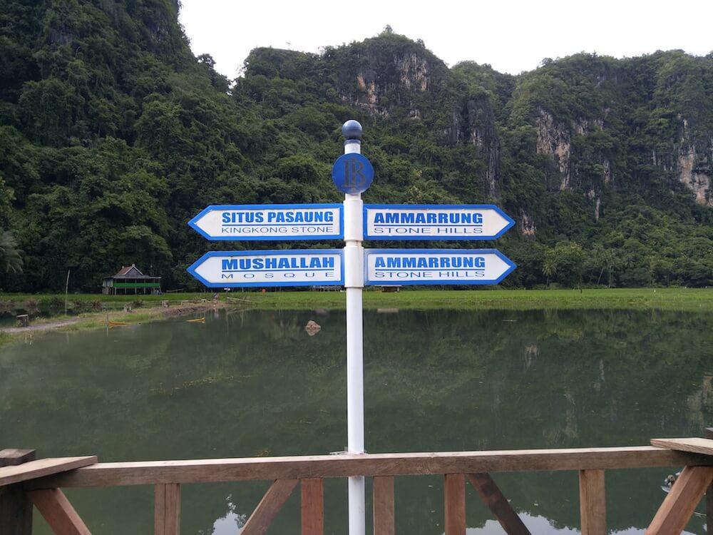 rammang-rammang sign