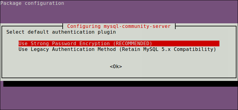 mysql select authentication