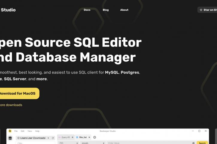 Beekeeper Studio : Database Manager dan SQL Editor Dibuat Dari Vue.js Berbasis Open Source